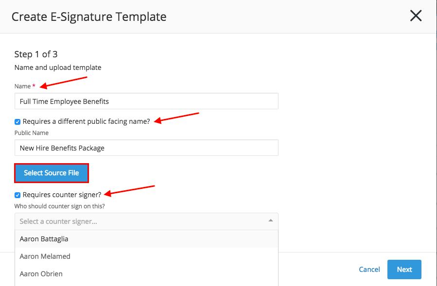 Create E-Signature Template – Greenhouse Support