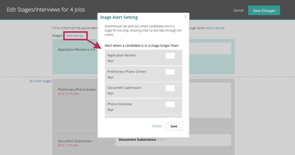 How Do I Edit Alert Settings Across Multiple Jobs Greenhouse Support