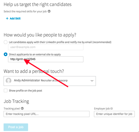 For Linkedin Job Paid Job Slots What Is The Tracking Pixel Field