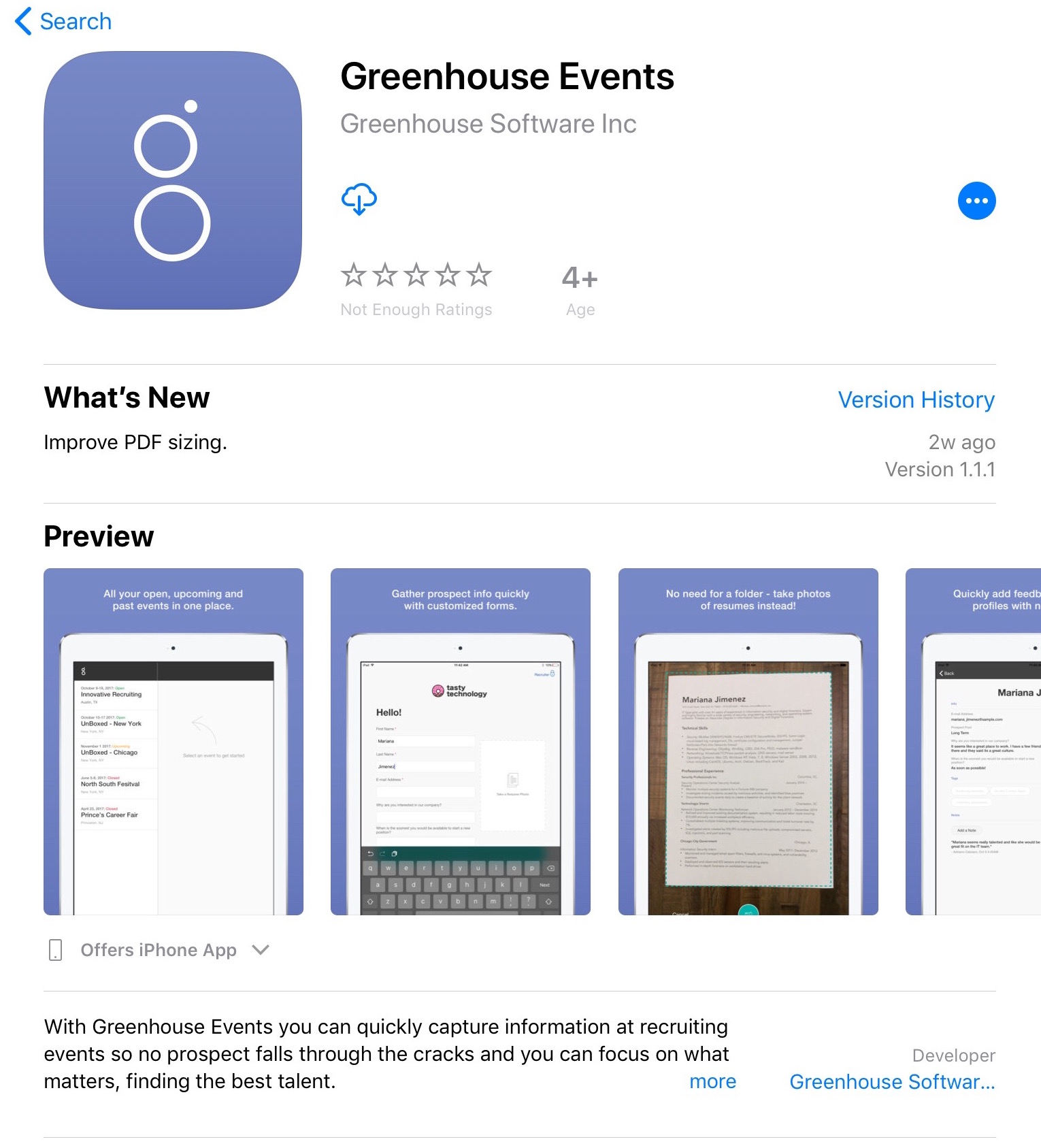 Using The Mobile Events App Greenhouse Support