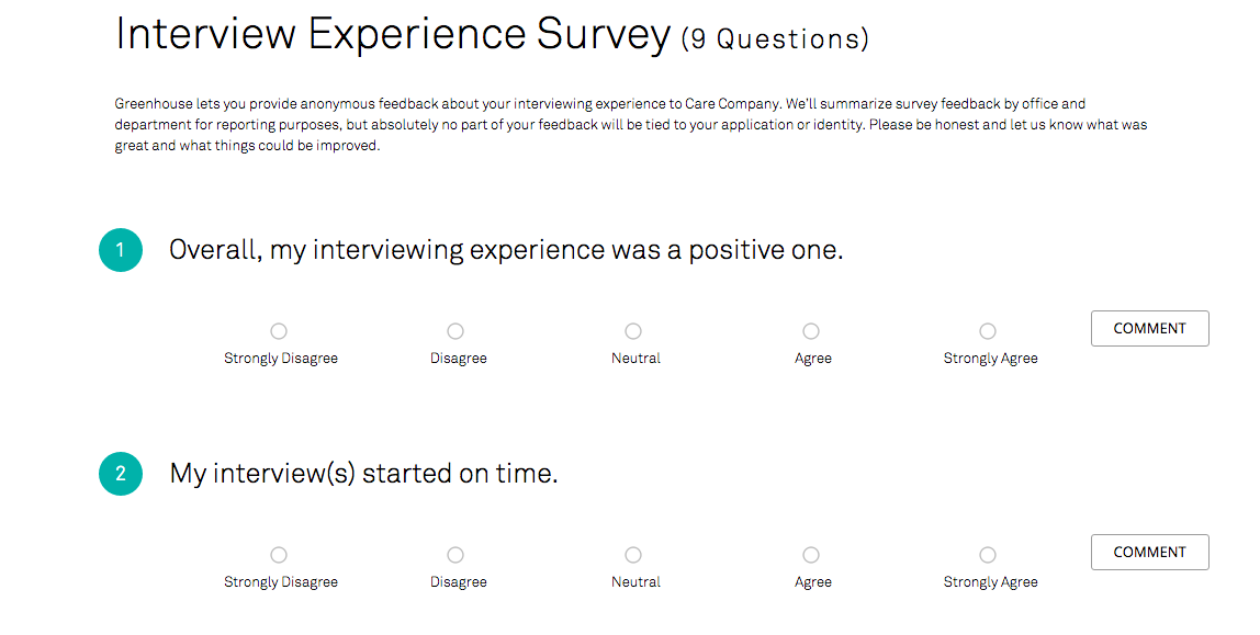 how can i preview the survey greenhouse support