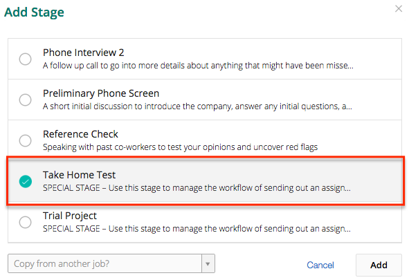 ... Select Take Home Test, And Then Click Add