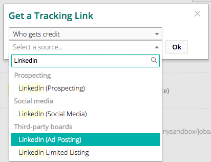 Tracking Link for LinkedIn Job Wrapping – Greenhouse Support